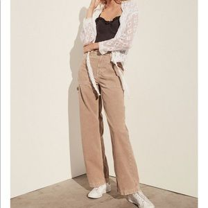 NAVY urban outfitters wide leg corduroy pant